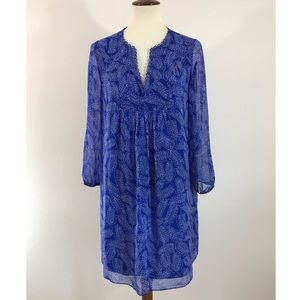 Diane von Furstenberg Scalloped Geometric dress